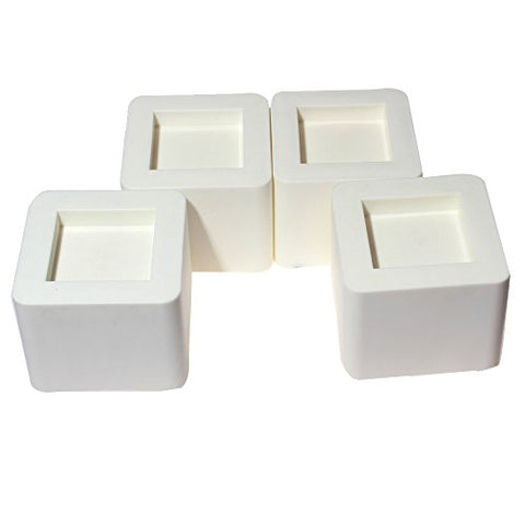 Dingheng Thicken ,Heavy Duty, Plastic Bed Risers ,Set of 4 pieces(White)