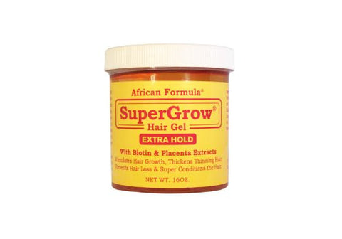 African Formula SuperGrow Hair Gel Extra Hold 16 oz
