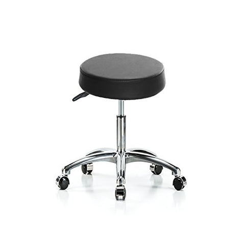 Cheesea Synthetic Leather Round Adjustable Wheels Modern Stool for Salon, Massage, Office and Medical