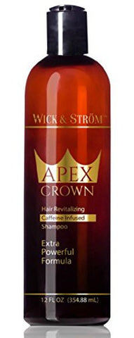 Premium Anti Hair Loss Shampoo -Wick & Ström- NO Minoxidil (Caffeine, Biotin, Saw Palmetto, Aloe Leaf, Ketoconazole +.)Formulated to Stimulate Hair Growth for Men & Women /BIGGER 12oz