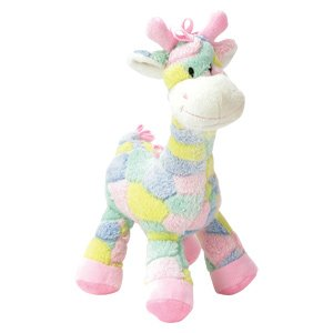 Pastel 13 Inch Plush Giraffe Rattle for Baby - Crib Toy - Infant - Baby Shower - Boy or Girl