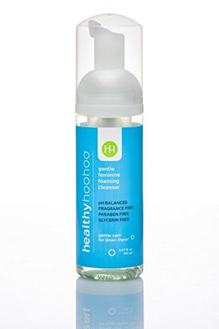 healthy hoohoo 5 fl. oz. All Natural Paraben and Fragrance-Free, Gentle Feminine Foaming Cleanser