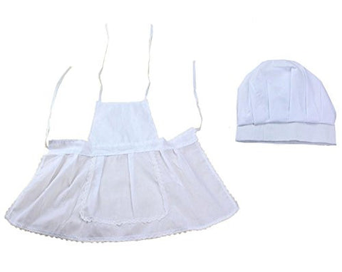 M&G House Newborn Unisex Baby White Cook Chef Costume Photos Photography Prop Hat + Apron Outfit