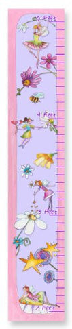 The Kids Room by Stupell Flower Fairy Princesses Growth Chart