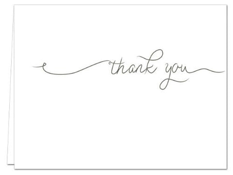 Simple Thank You Blank Cards, 36 count - Gray Envelopes Included