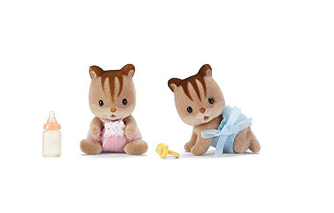 Calico Critters Hazelnut Chipmunk Twins Playset