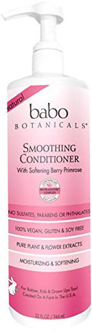 Babo Botanicals Smoothing Conditioner, Pink, Berry Primrose, 32 Ounce