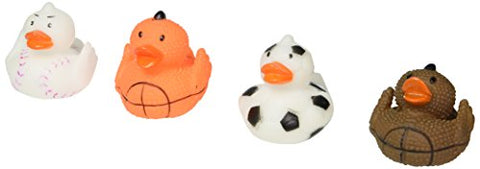 Lot Of 12 Assorted Sports Themed Rubber Ducks Duckies