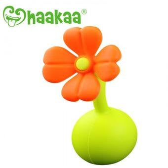 Haakaa Silicone Breast Pump Stopper 1 pk (Orange)