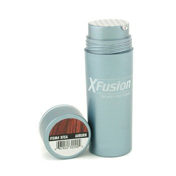 X-Fusion Keratin Hair Fibers for Unisex, Auburn, 0.87 Ounce