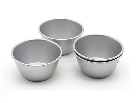 Astra shop Individual Molds/ Chocolate Molten Pans/ Pudding Cups/ Raspberry Souffle Pot Pie Darioles Ramekins/ Brownies Tumblers Popovers/3-Inch Nonstick Egg Tart Bakeware