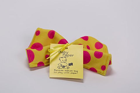 Baby Paper Crinkly Baby Toy (Yellow with Pink Dots)