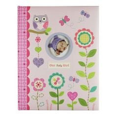 Baby's First Memory Book Our Baby Girl Pink with Flowers, Owls, Hearts, & Butterflies
