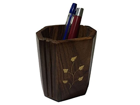 For Gift The Indian Arts Hand Carved Wooden Pen Pencil Stand Holder