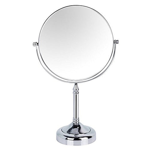 GuRun 8-inch Tabletop Two-sided Swivel Makeup Mirrors with 10x Magnification,Chrome Finish M2251(8in,10x)