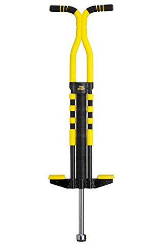 New Bounce Soft, Easy Grip Pro Sport Pogo Stick for Ages 9 and up (Black & Yellow)