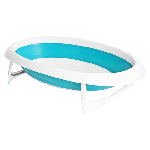 Boon Naked Collapsible Baby Bathtub Blue,Blue/White
