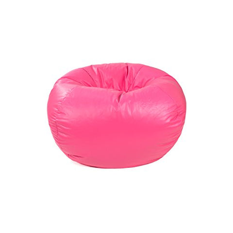 Gold Medal 30010546822 Medium Leather Look Beanbag Tween Size, Hot Pink