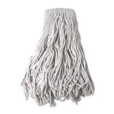 Mop Head, Refill, Cotton, 24 oz, 4-Ply, White, Sold as 2 Each