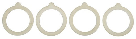HIC Silicone Replacement Gasket Seals, Fits Standard sized-Mouth Canning Jars, 3.75 x 3.75-Inches, Set of 4