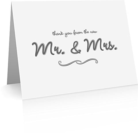 Wedding Thank You Cards (40 Foldover Cards and Envelopes)