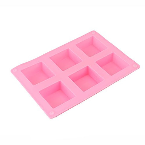 6MILES 1 PC 6 Square Silicone Cake Baking Mold Pans Muffin Cups Handmade Soap Lotion Bar Making Biscuit Chocolate Bread Craft Art DIY
