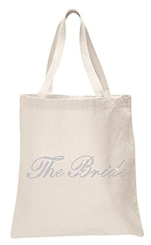 Ivory The Bride Luxury Crystal Bride Tote bag wedding party gift bag Cotton