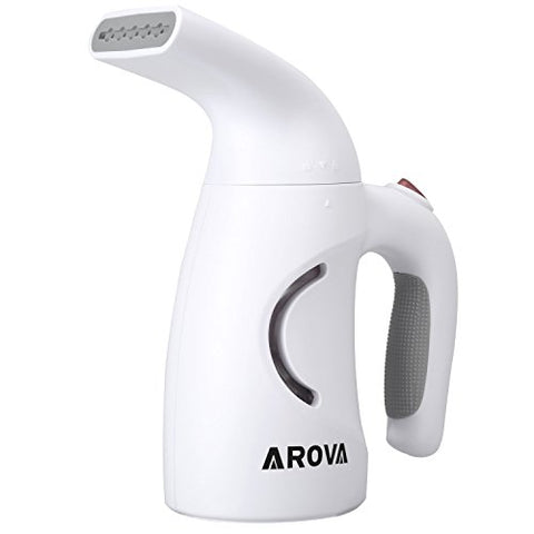 AROVA Mini Travel Garment Steamer 140ml Portable Handheld Lightweight Wrinkle Remover With Fast-Heat Continuous Steaming For Linen, Shirts, Bedding, Suits, Curtains
