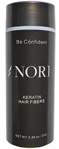 Nor1 Hair Building Fibers Conceal Thinning Hair - Black 25g (90 day supply)