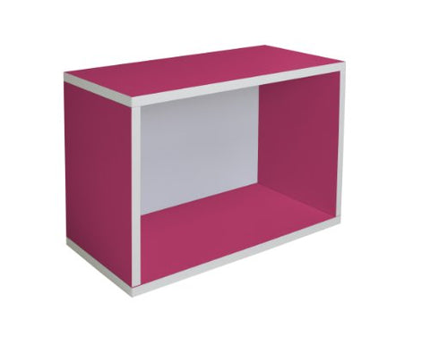 Way Basics Eco Stackable Shelf and Shoe Rack, Pink (made from sustainable non-toxic zBoard paperboard)