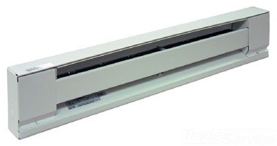 TPI E2910048S Series 2900S Electric Baseboard Stainless Steel Element Convection Heater, Ivory, 2-1/2  Thickness, 8.3 Amps, 1000W