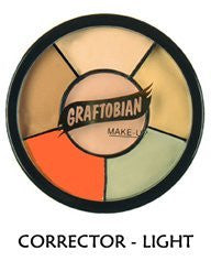 Graftobian Corrector Wheel Light Skin Tones, 1 Ounce