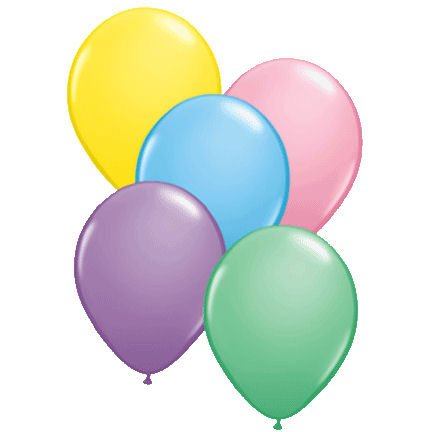 Qualatex 11  Pastels Assorted Latex Balloons (10ct)