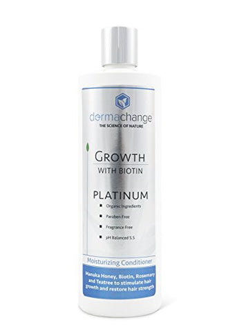 DermaChange Platinum Hair Growth Conditioner - With Vitamins - To Make Hair Grow Fast - Argon Oil and Biotin To Support Regrowth - Reduce Thinning and Hair Loss For Men and Woman