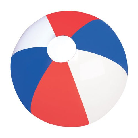 16 RED, WHITE AND BLUE BEACHBALL / PATRIOTIC BEACH BALL