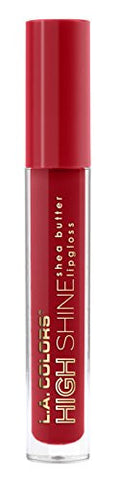 L.A. Colors High Shine Shea Butter Lip Gloss, Dynamite, 0.14 Ounce