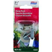 National Hardware V2672 2-1/4-Inch Swag Hook, Antique Brass