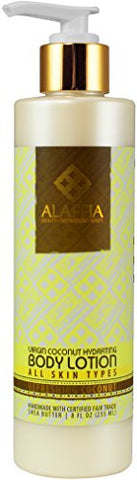 Alaffia - Virgin Coconut Hydrating Body Lotion, Refreshing Coconut, 8 Ounces