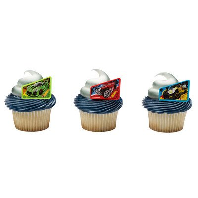 Hot Wheels Way 2 Fast Cupcake Rings - 24 pc