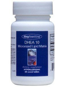 Allergy Research Group DHEA 10 Micronized Lipid Matrix -- 60 Scored Tablets