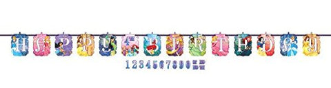 Disney Princess Dream Big Kids Birthday Party Jumbo Add An Age Letter Banner 10 Ft. (1ct)