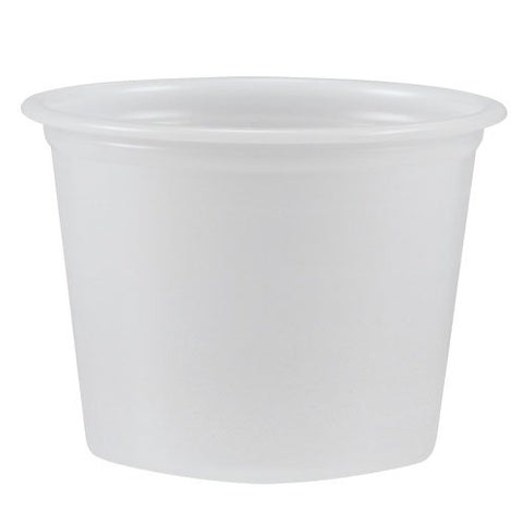 Solo Polystyrene Portion Cups, 1-ounce Medicine Souffle Cups, Translucent, Carton of 2,500
