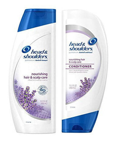 Head Shoulders Nourishing Hair Scalp Care Shampoo and Conditioner Set 13.5 Ounce