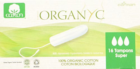 Organyc Feminine Tampon Digital Super,16 Count