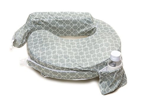 My Brest Friend Deluxe Nursing Pillow, Flower Key, Grey