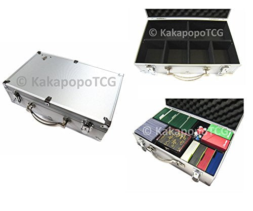 A3 Silver Metal Frame Lockable Storage Carry Case for Trading Cards ...