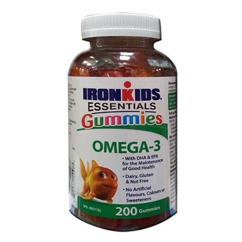 IronKids Gummies OMEGA-3's, 200 gummies Iron Kids Brand: IronKids - Life Science Nutritionals - Canadian