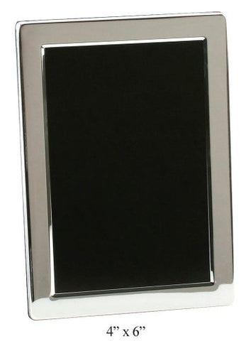 Silver Plated Contemporary 4  x 6  Photo Frame By Haysom Interiors