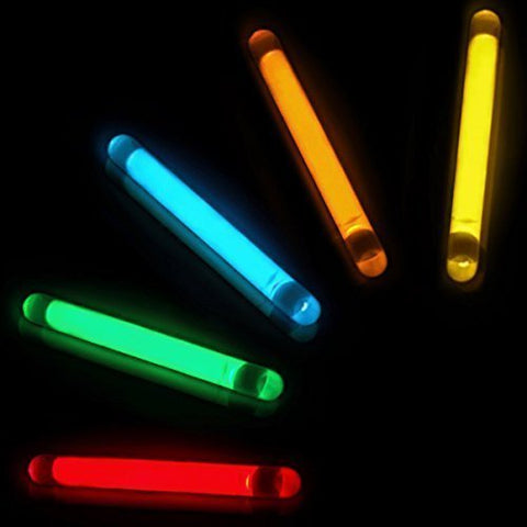 GiftExpress 100 Pcs 1.5 Inch Glow Sticks / Fishing Floats - Assorted Color