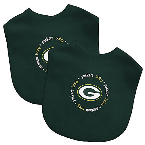 Baby Fanatic Team Color Bibs, Green Bay Packers, 2-Count